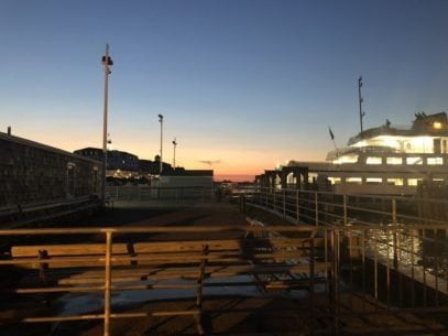 Sunset View of Docks from Block Island