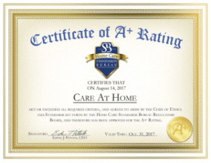 Home Care Bureau of Standards Certification