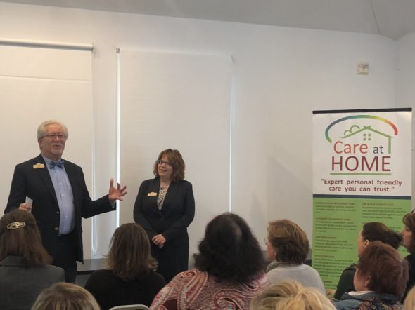 Dan Karp speaking at the WCERG Meeting hosted by Care at Home in Westerly, RI