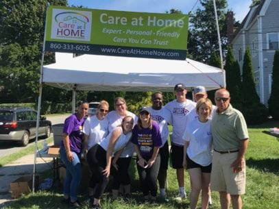 Care at Home Team at the Alzheimer's Walk